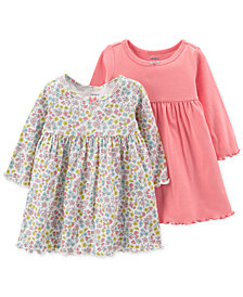 Carter's Baby Girls 2-Pack Popover Cotton Dresses