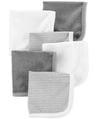 Baby Boys or Girls 6-Pack Washcloths