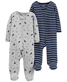 Carter's Baby Boys 2-Pk. Cotton Coveralls