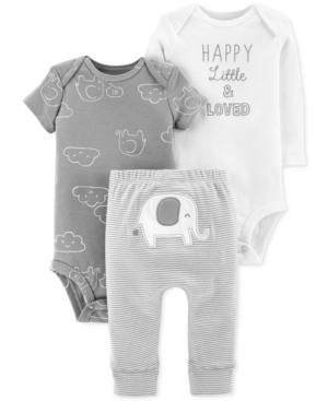 Carters Baby Boys or Girls 3Pc Cotton Bodysuits  Pants Set