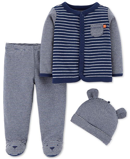 281134d28 Carter s Baby Boys 3-Pc. Cotton Cardigan