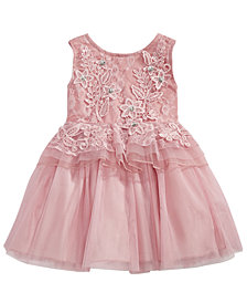 Nanette Lepore Baby Girls Rose Floral Peplum Dress