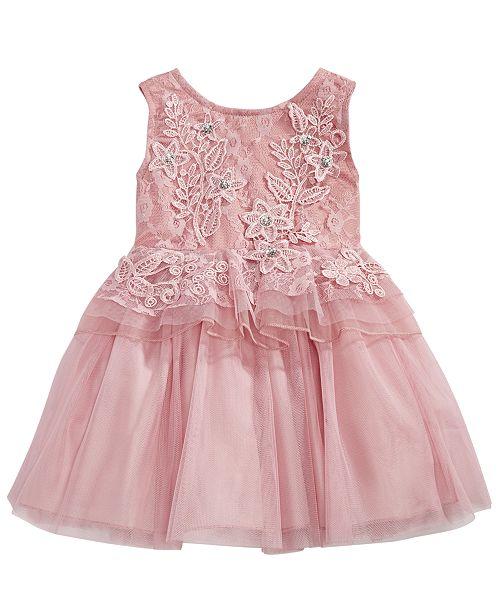 dd6cb9b48 Nanette Lepore Baby Girls Rose Floral Peplum Dress   Reviews ...