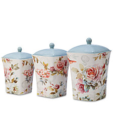 Certified International Beautiful Romance Canisters, Set of 3