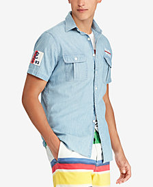 Polo Ralph Lauren Men's Classic-Fit Chambray CP-93 Shirt, Created for Macy's