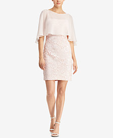 Lauren Ralph Lauren Georgette-Overlay Dress
