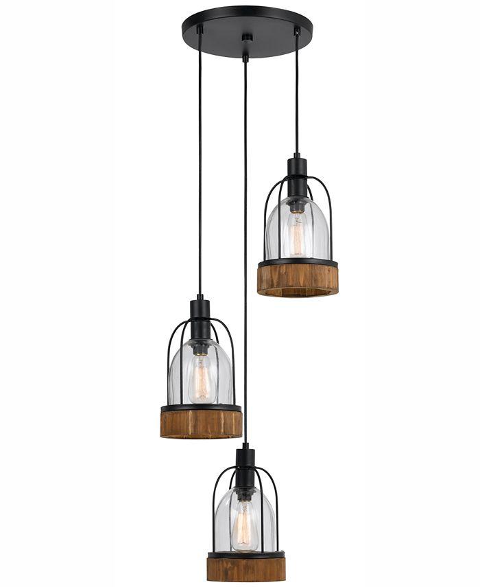 Cal Lighting - 60W 3-Light Beacon Glass Pendant