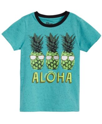 Little Boys Pineapple Graphic-Print T-Shirt, Created for Macy's