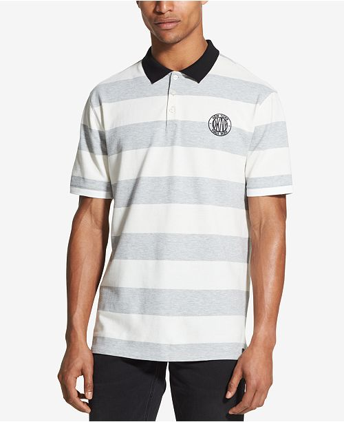 Men's Heathered Striped Polo, Created for Macy's