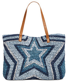 I.N.C. Marthaa Star Straw Tote, Created for Macy's