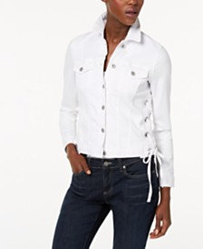 Vince Camuto Lace-Up Denim Jacket