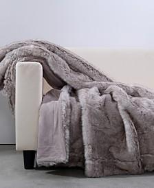 "Berkshire Wolf Reversible Faux-Fur 50"" x 60"" Fashion Throw"