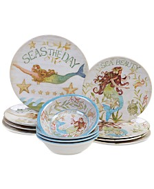 Certified International Sea Beauty 12-Pc. Dinnerware Set, Service for 4