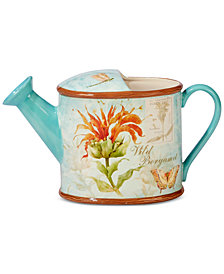 Certified International Herb Blossom 3-D Watering Can Pitcher