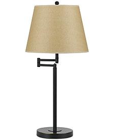 Cal Lighting 150W 3-Way Andros Metla Swing Arm Table Lamp
