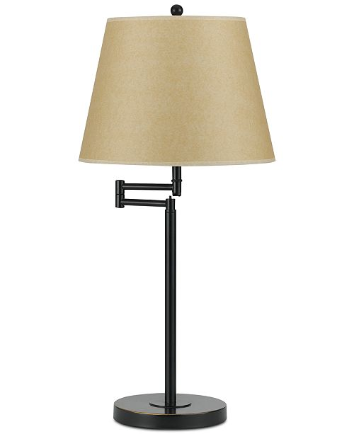 Cal Lighting 150W 3-Way Andros Metla Swing Arm Table Lamp