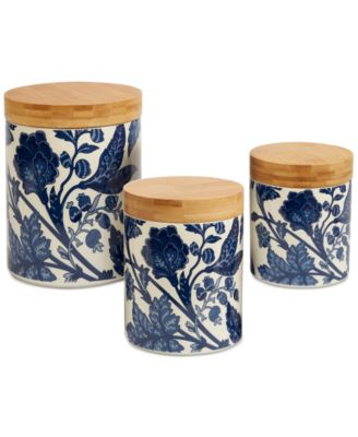 3-Pc. Blue Indigo Canister Set
