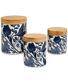 Certified International 3-Pc. Blue Indigo Canister Set