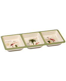 Certified International Floridian 3-Section Relish Tray