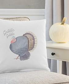 "Cathy's Concepts Gobble Gobble Turkey 16"" Square Decorative Pillow"
