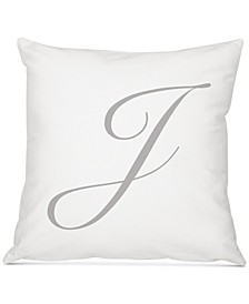 "Personalized Script Initial 16"" Square Decorative Pillow"