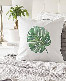 "Cathy's Concepts Palm Leaf 16"" Square Decorative Pillow"