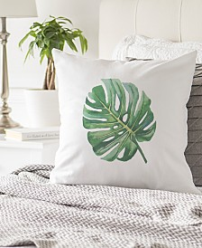 "Cathy's Concepts Palm Leaf 16"" Square Decorative Pillow"