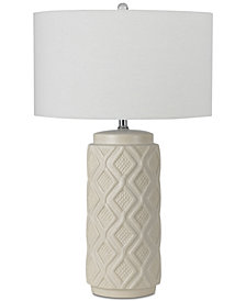 Cal Lighting Diamond Ceramic Table Lamp