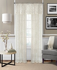 Elrene Montego Sheer Burnout Window Treatment Collection
