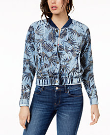 GUESS Cotton Embroidered Bomber Jacket