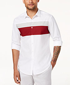 I.N.C. Men's Colorblocked Hybrid Shirt, Created for Macy's