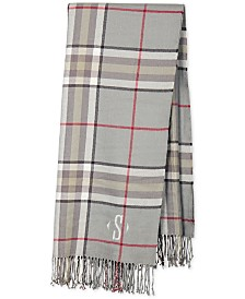 "Cathy's Concepts Personalized Gray Plaid 50"" x 60"" Throw"