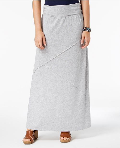 Style & Co Comfort-Waist Maxi-Skirt, Created for Macy's