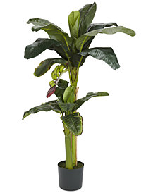 Nearly Natural 3' & 5' Double Stalk Artificial Banana Tree