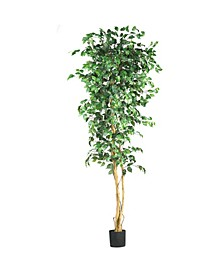 7' Artificial Ficus Tree