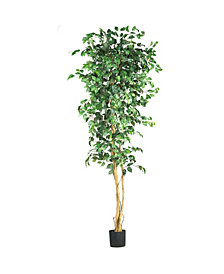 Nearly Natural 7' Artificial Ficus Tree