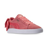 Deals on Puma Womens Suede Bow Casual Sneakers