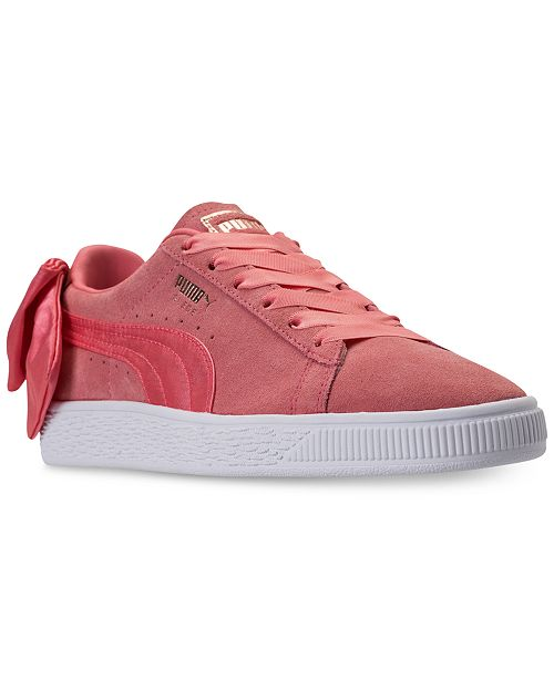 4ae8fdbce33b9f Puma Women s Suede Bow Casual Sneakers from Finish Line ...