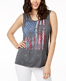 True Vintage Flag Graphic Tank Top