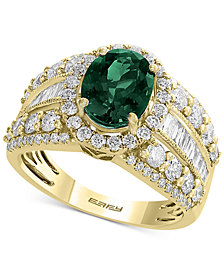 EFFY® Emerald (1-1/2 ct. t.w.) & Diamond (1-5/8 ct. t.w.) Ring in 14k Gold