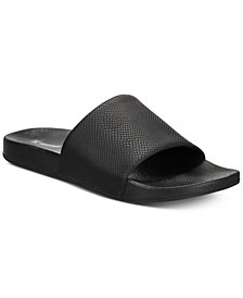 I.N.C. Men's Gemini Snake Shower Slides, Created for Macy's