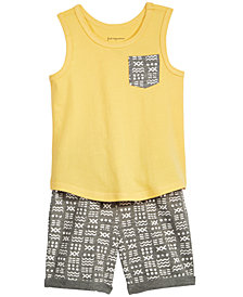 First Impressions Baby Boys Printed-Pocket Tank Top & Shorts, Created for Macy's