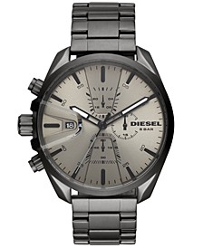 Men's Chronograph MS9 Chrono Gunmetal Stainless Steel Bracelet Watch 47mm