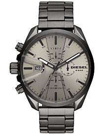 Diesel Men's Chronograph MS9 Chrono Gunmetal Stainless Steel Bracelet Watch 47mm