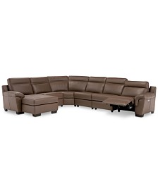 Brown Leather Sectional Sofas Couches Macys