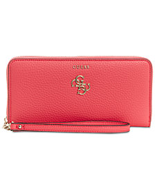 GUESS Flora Zip Around Wallet
