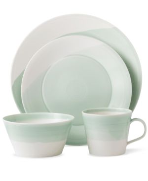 Royal Doulton Dinnerware, 1815 Green 4 Piece Place Setting