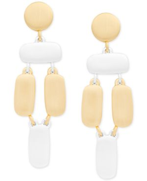 TWO-TONE SCULPTURAL STATEMENT EARRINGS