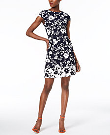 Jessica Howard Petite Floral Fit & Flare Dress