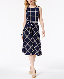 Charter Club Petite Printed A-Line Dress, Created for Macy's